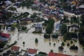 Opět zatopené Troubky na Moravě.