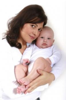Ilona Csáková se synem Danielem.