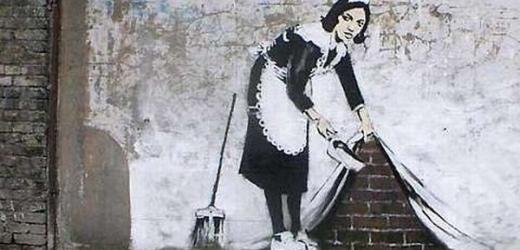 """Slavný streetartový umělec Banksy má plagiátora (tento obrázek je ovšem od """"pravého"""" Banksyho)."""