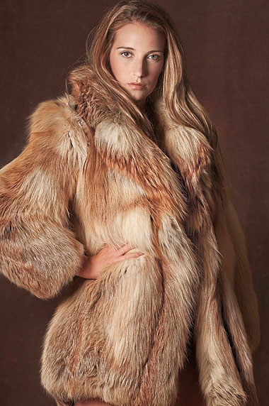 Modelka Savannah Fairnieová.
