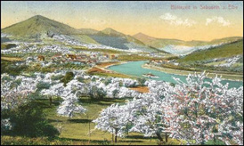 Labe u Sebuzína kolem roku 1911.