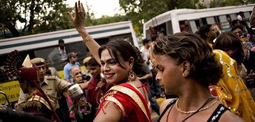 Pochod transsexuálů v Dillí (2010).