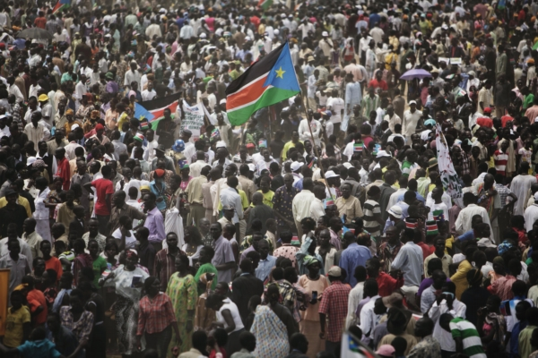 Oslavy nezávislosti Jižního Súdánu.