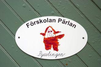 Označení jedné ze švédských školek.