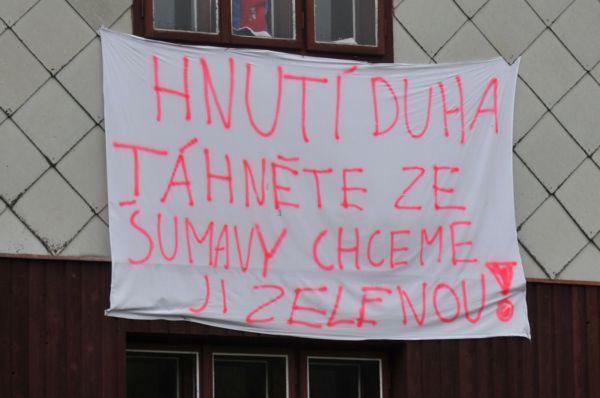 Aktivisté se nesetkávají na Šumavě s pochopením.