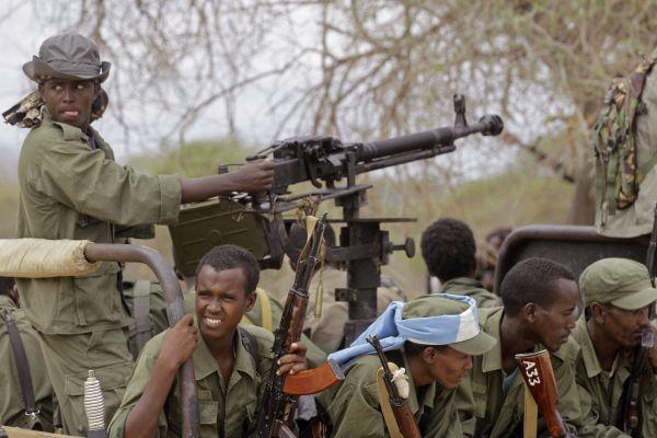 Somálští vládní vojáci na severu země.