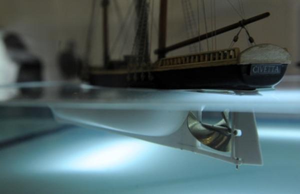 Model Resslova lodního šroubu.