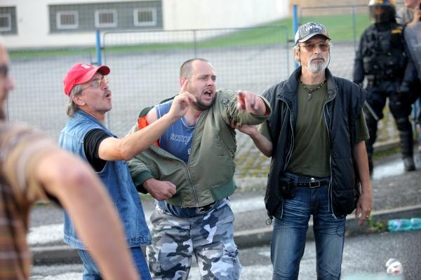 Protesty ve Varnsdorfu vyšetřuje policie.