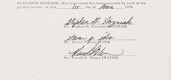 Osudový podpis třetího majitele Applu.
