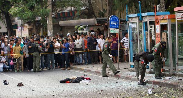 Na místě incidentu v Bangkoku.