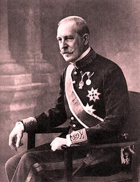 Ministr zahraničních záležitostí Aloys hrabě Lexa z Aehrenthalu.