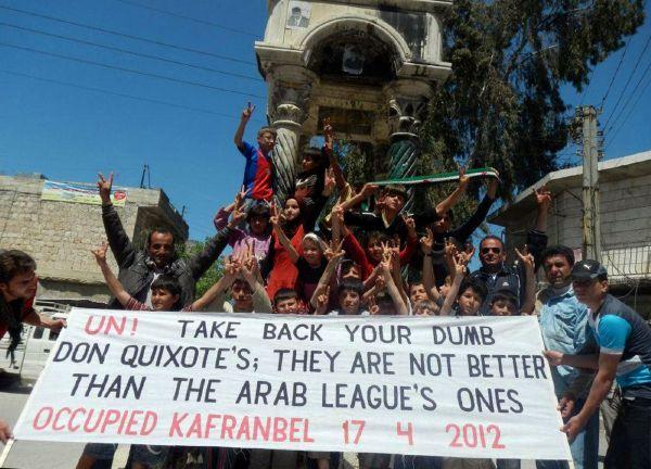 Syřané si o pozorovatelích OSN myslí své.