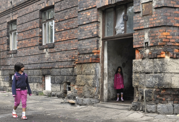 Takto vypadají domy v ghettu.