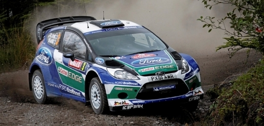 Ford Fiesta RS WRC Rally v akci.