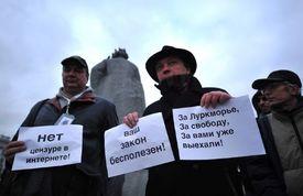 Protest proti cenzuře na internetu (Moskva 2012).