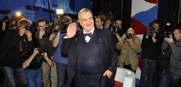 Karel Schwarzenberg na prezidentské televizní debatě