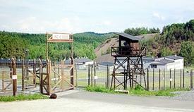 Památník Vojna naPříbramsku, bývalý lágr pro vězně, kteří těžili uran. Mezi ně pařil i Leo Žídek.