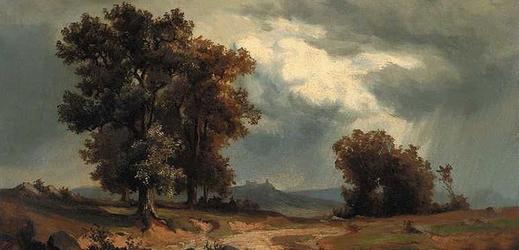 Obraz Adolfa Kosárka Před bouří (kolem roku 1850).