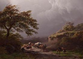 Cornelis Koekkoek a jeho Bouře z doby před rokem 1862.