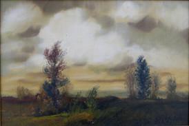 Obraz Viktora Rolína Krajina před bouří z roku 1930.