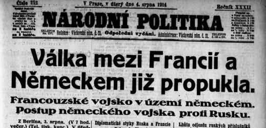 Národní politika z 4. srpna 1914.