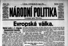 Titulní strana z 15. srpna 1914.