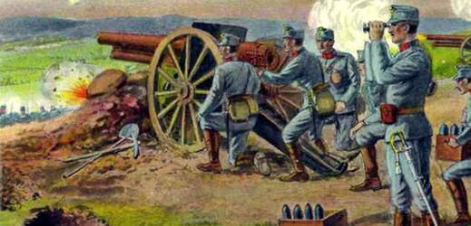 Rakouské dělostřelectvo.