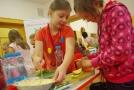 Děti v akci během projektu Zdravá strava do škol.