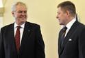 Prezident Miloš Zeman a slovenský premiér Robert Fico.