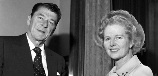 Ronald Reagan a Margaret Thatcherová.
