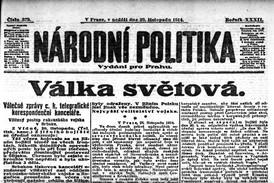 Noviny z 29. 11. 1914.