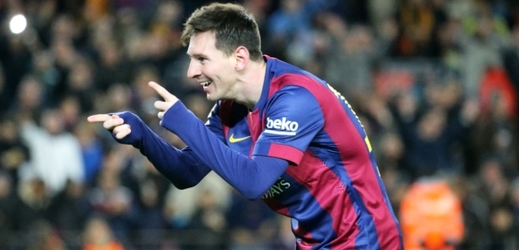 Lionel Messi z Barcelony.