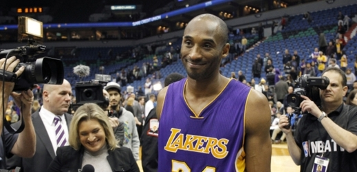 Hvězda Los Angeles Lakers Kobe Bryant.