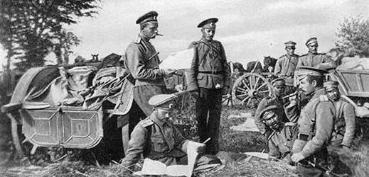 Rusové na rakouských hranicích.