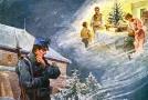 Vánoční pohlednice přicházely adresátům se značným zpožděním během ledna 1915.