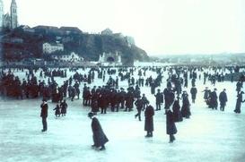 Praha v zimě.