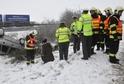 Dopravní nehoda z 27. ledna na silnici č. 635 nedaleko motorestu Zlatá Křepelka u Olomouce.