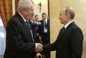 Prezident Miloš Zeman (vlevo) se 7. 2. 2014 zúčastnil slavnostní recepce pořádané ruským prezidentem Vladimirem Putinem (vpravo) při příležitosti zahájení olympijských her (ilustrační foto).