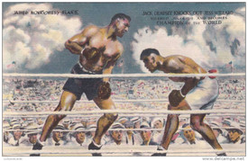 Světový šampion v boxu Jess Willard při zápase.