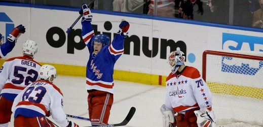 New York Rangers srovnali sérii s Washingtonem na 1:1.
