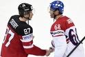 Dva hokejoví premianti. Sidney Crosby a Jaromír Jágr.