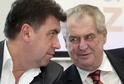 Martin Nejedlý (vlevo) - jednatel firmy Lukoil a poradce prezidenta Zemana.