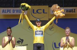 Chris Froome, vítěz Tour de France.