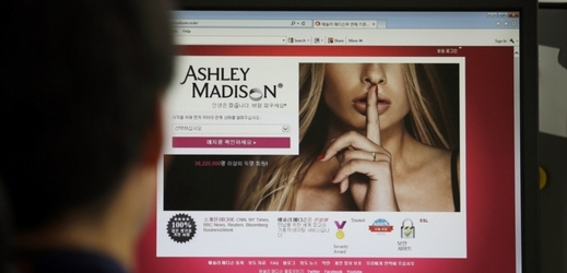 Stránky Ashley Madison.