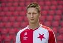 Hvězda fotbalistů Slavie Milan Škoda.
