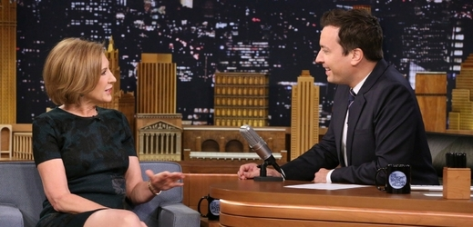 Carly Fiorinová v Tonight Show Jimmyho Fallona.