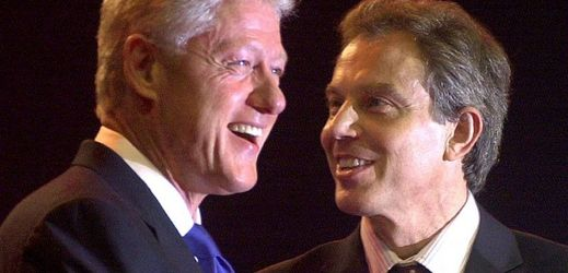 Bill Clinton (vlevo) a Tony Blair.