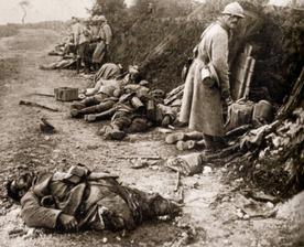 Strašlivé následky bitvy u Verdunu.