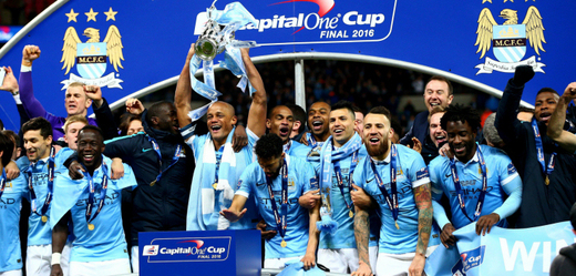 Vítězové Capital One Cupu - tým Manchester City