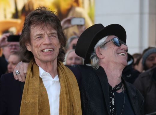 Vlevo na snímku Mick Jagger a Keith Richards.